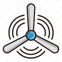 windmill, ecology, nature, energy, environment, clean icon