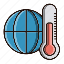 degree, ecology, environment, nature, thermometer icon