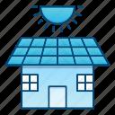 eco, ecology, go green, house, panel, solar