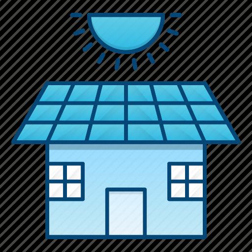 eco, ecology, go green, house, panel, solar icon