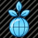 ecology, environment, global, plant, world icon