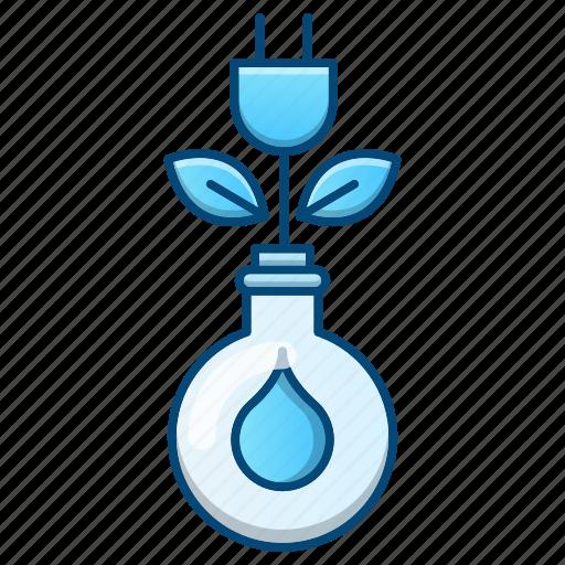 energy, go green, green, growth, power icon