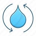 drop, ecology, purification, water icon
