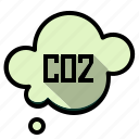 carbon, cloud, co2, dioxide, ecology icon
