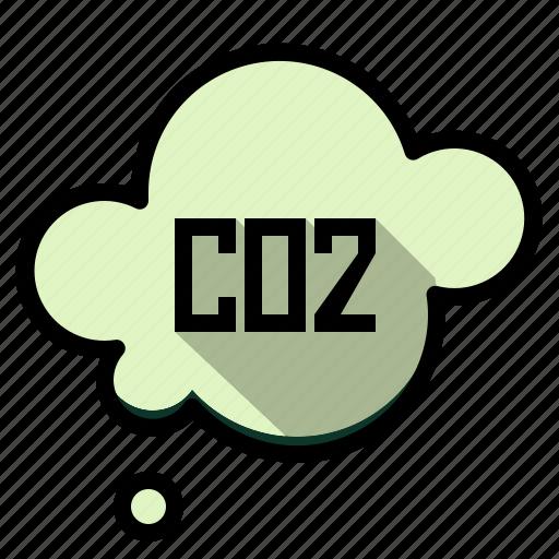 carbon, cloud, co2, dioxide, ecology icon