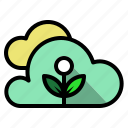 plant, weather, ecology, cloud, cloudy icon