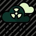 acid, atomic, ecology, pollution, radioactive, rein icon