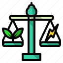 balance, ecology, environment, judge, justice, law icon