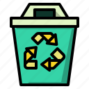 bin, ecology, garbage, recycle, trash icon