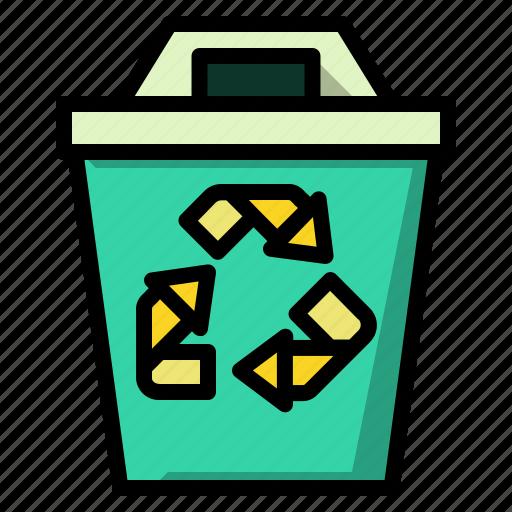 bin, ecology, garbage, recycle, trash icon