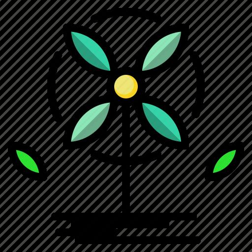ecological, ecology, landscape, technology, windmill icon