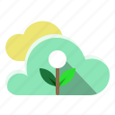 cloud, cloudy, ecology, plant, weather icon