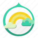 atmosphere, atmospheric, rainbow, spectrum, weather icon