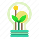 bulb, ecological, ecology, idea, invention, light icon
