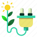 charge, ecology, electrical, plug icon