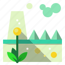 buildings, fectory, plant, pollution, power icon