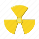 energy, nuclear, power, radioactive, signs icon