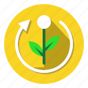 arrow, container, environment, nature, recycle, sign icon