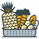 carrot, ecology, food, fruit, leaf, pineapple, vegetables icon