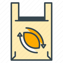 arrows, bag, ecology, recycle, reduce, reuse icon