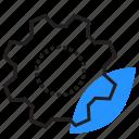 cogwheel, eco, gear, leaf