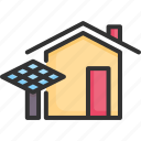 electricity, energy, environment, house, power, renewable, solar icon