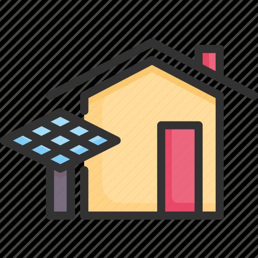 electricity, energy, environment, house, power, renewable, solar icon