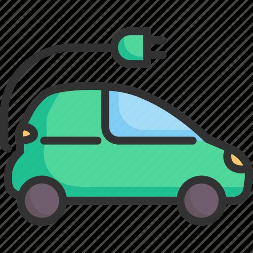 alternative, car, ecology, electric, environment, technology, vehicle icon