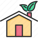 concept, ecology, energy, green, house, natural, nature icon