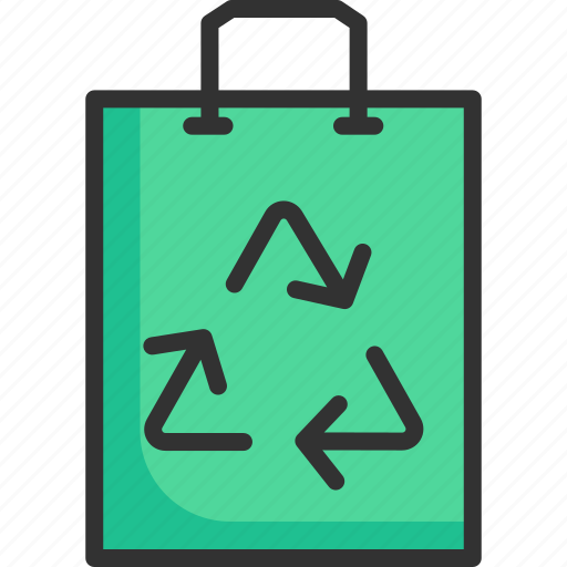 bag, cloth, ecology, material, paper, recycle, shopping icon