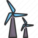 alternative, electricity, energy, power, renewable, turbine, wind icon