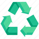 ecology, environment, recycle, recycling, reuse, symbol, waste icon