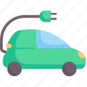 alternative, car, ecology, electric, environment, technology, vehicle icon