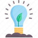 concept, electricity, energy, green, innovation, lightbulb, technology icon
