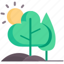 concept, ecology, environment, green, nature, plant, tree icon