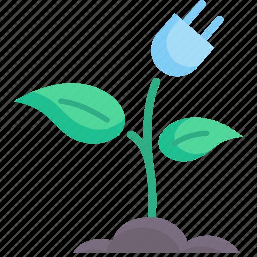 concept, ecology, energy, environment, green, nature, plugin icon