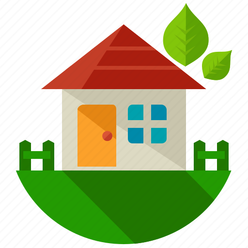 eco, ecology, green, home, house, nature, plant icon