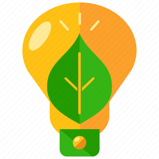 ecology, energy, environment, leaf, lightbulb, nature icon
