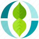 ecology, environment, leaf, nature, plant, recycle icon