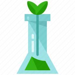 ecology, flower, laboratory, nature, plant, test, tube icon