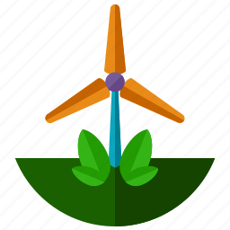 eco, ecology, energy, leaf, nature, windmill icon