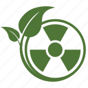 atomic, danger, eco, ecology, nature, nuclear, plant, product, radiation, waste icon