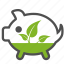 bio, eco, ecology, environment, green, guardar, nature, pig, plant, save icon
