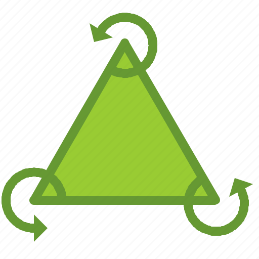 ecosystem, recycle, triangle icon
