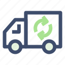 ecology, recycle truck, truck, van icon