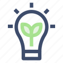 bulb, electricity, energy, green energy icon