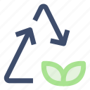 ecology, recycle, reuse icon