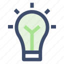 bulb, energy, idea, power icon