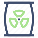 container, ecology, nuclear waste, waste icon