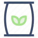 ecology, green waste, organic, recycle bin, reuse icon